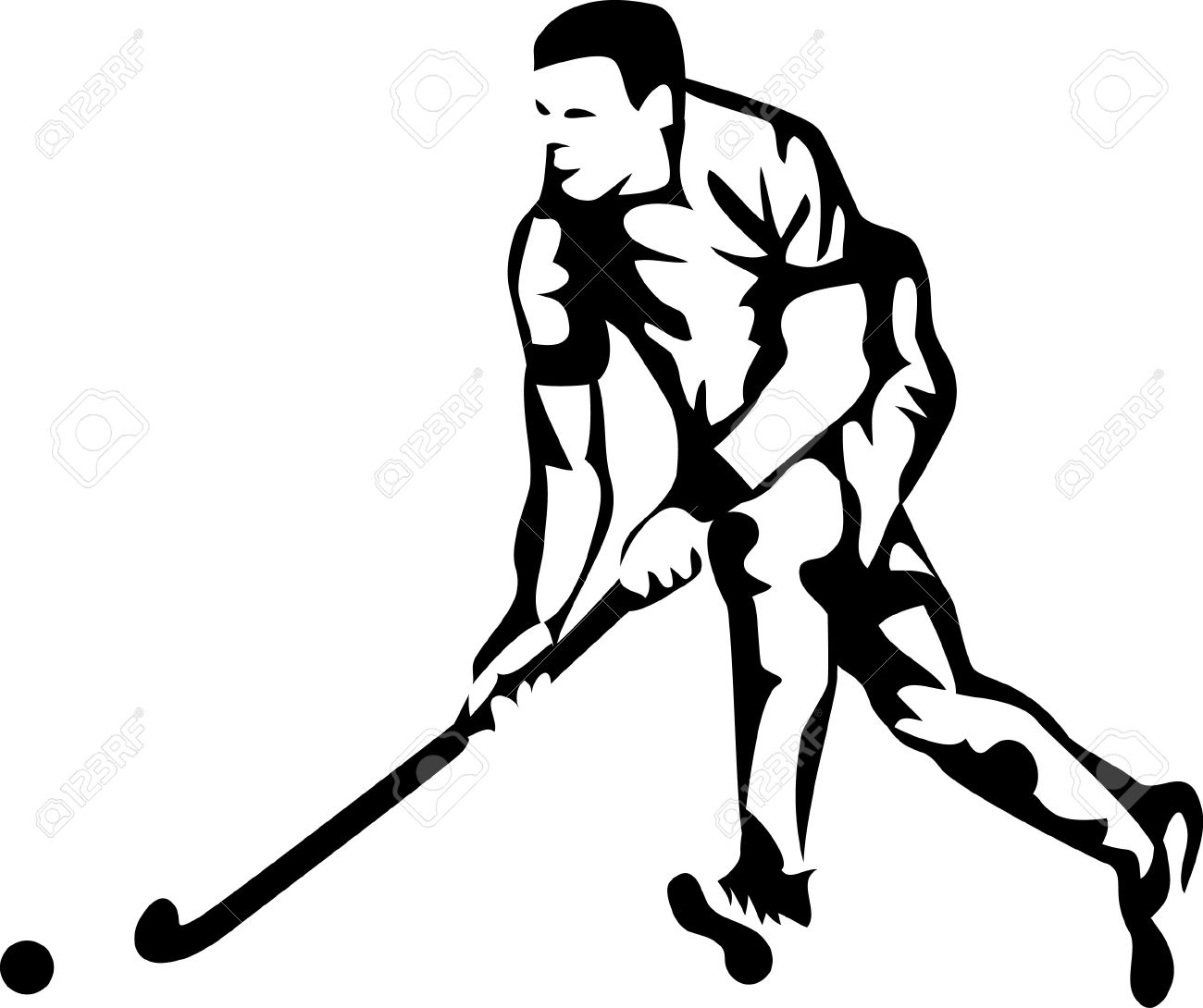 field hockey player logo.