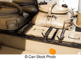 Stock Photography of Military field kitchen.