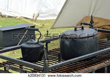 Stock Photography of Outdoor vintage field kitchen k20934131.