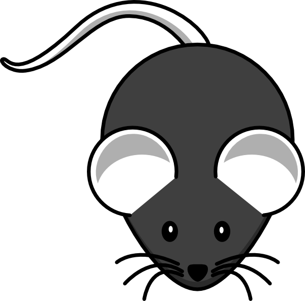 Gray Mouse Animal Clipart.