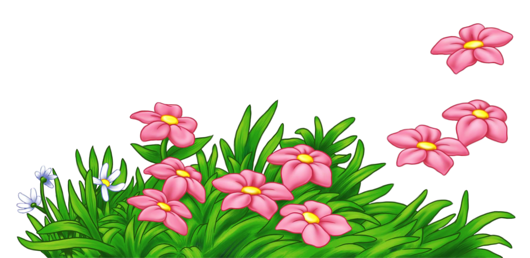 Flower grass clipart.
