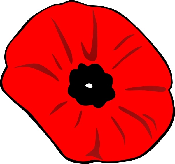 Poppy Remembrance Day clip art Free vector in Open office drawing.