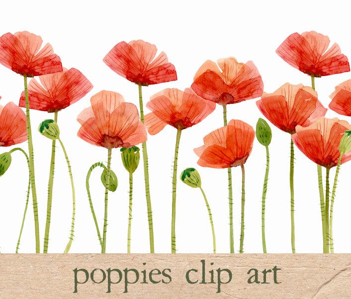 Flower Field Red Clip Art.