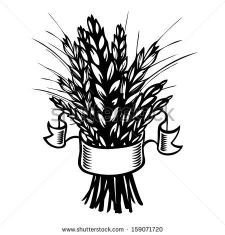 Sheaf of wheat clipart.