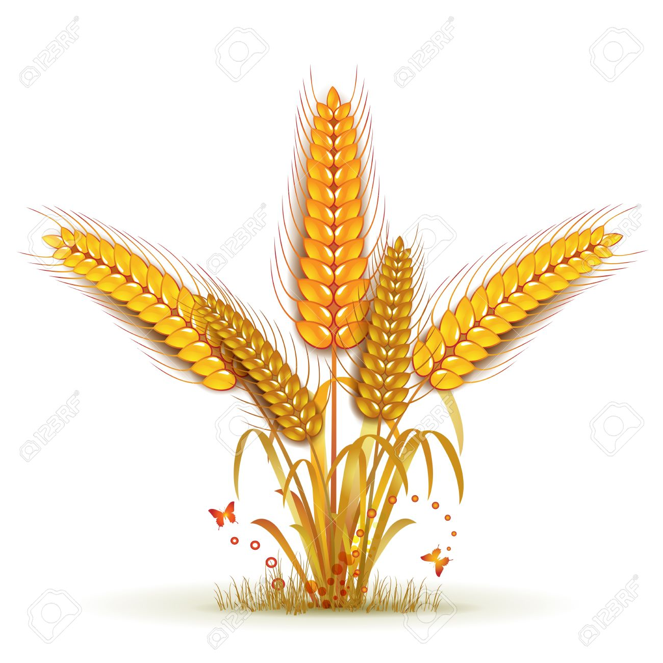 Wheat Sheaf Arrangement Royalty Free Cliparts, Vectors, And Stock.