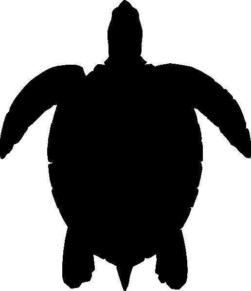 Simple Seahorse Silhouette.