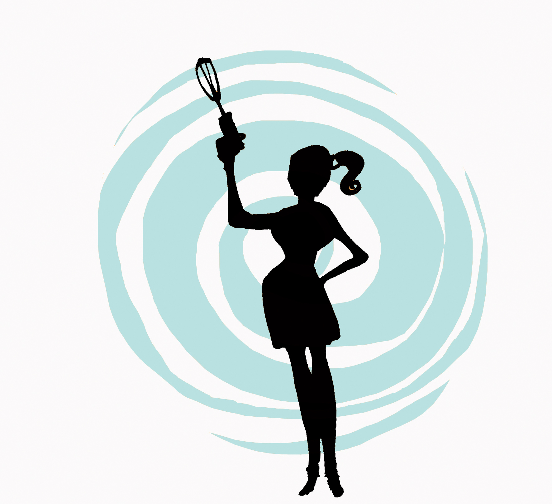 Woman Cooking Silhouette.