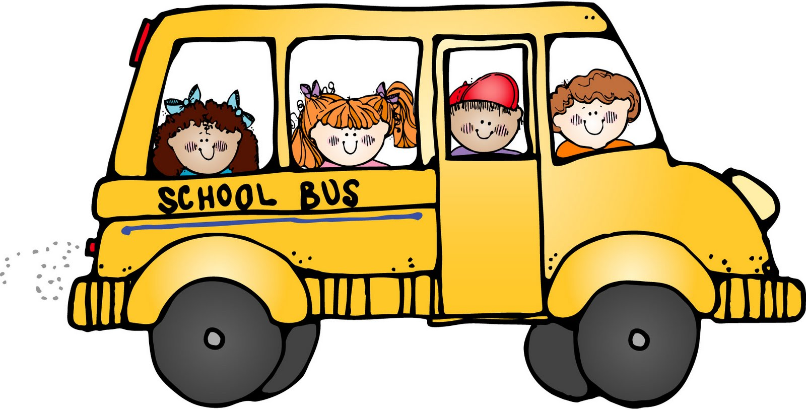 Animated field trip clipart.