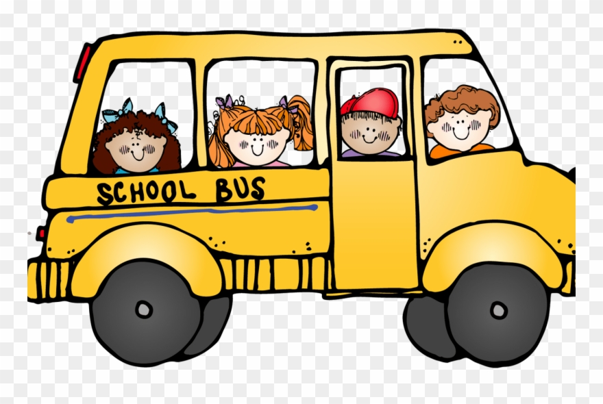 Girl School Bus Clipart.