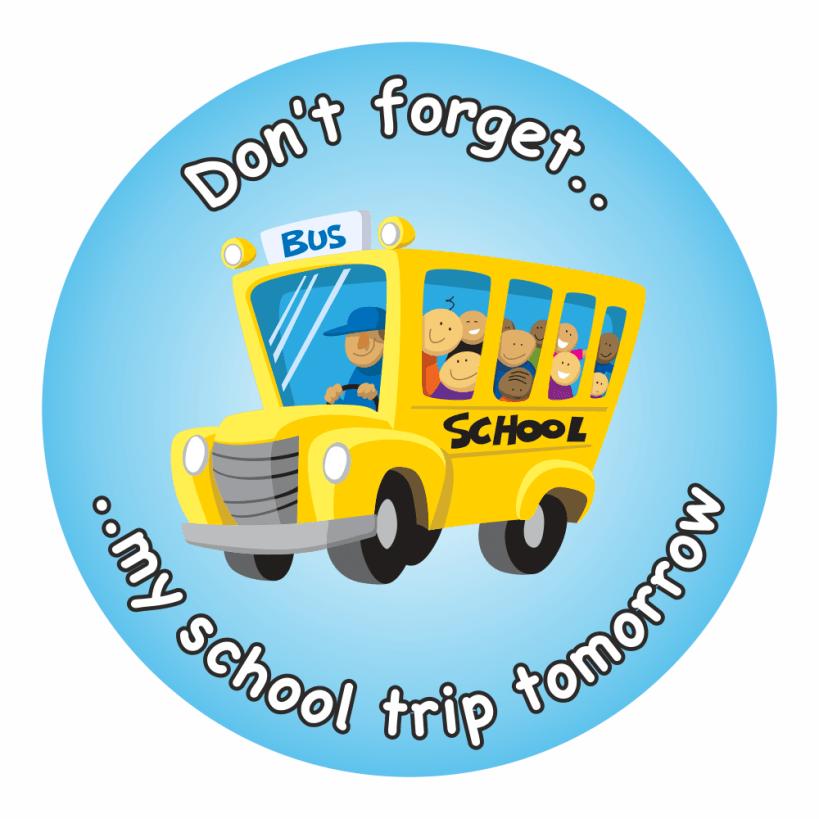 School Trip Reminder Stickers.