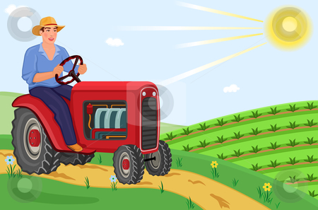 Working in the fields clipart.