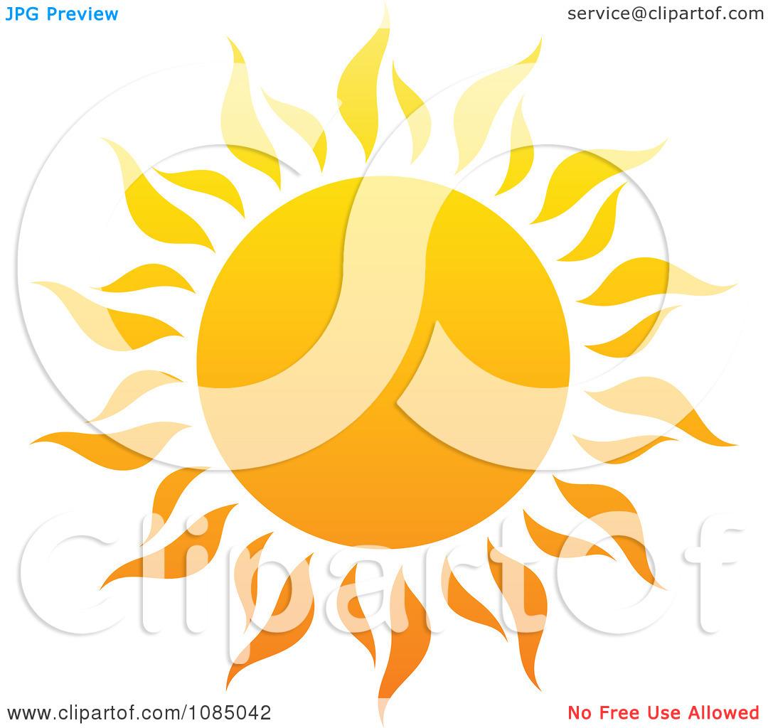 Clipart Hot Summer Sun With Fiery Rays 1.