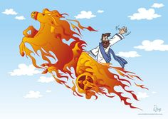 elijah and the fiery chariot clip art.