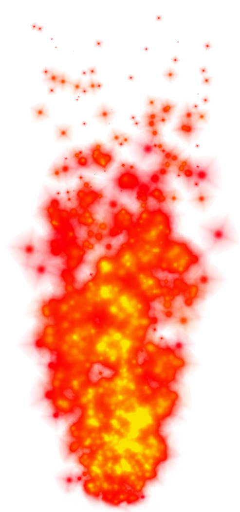 Fiery Flames PNG Clipart Picture.