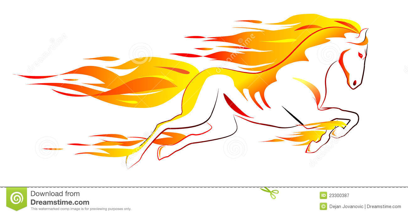 Fiery Horse Royalty Free Stock Images.