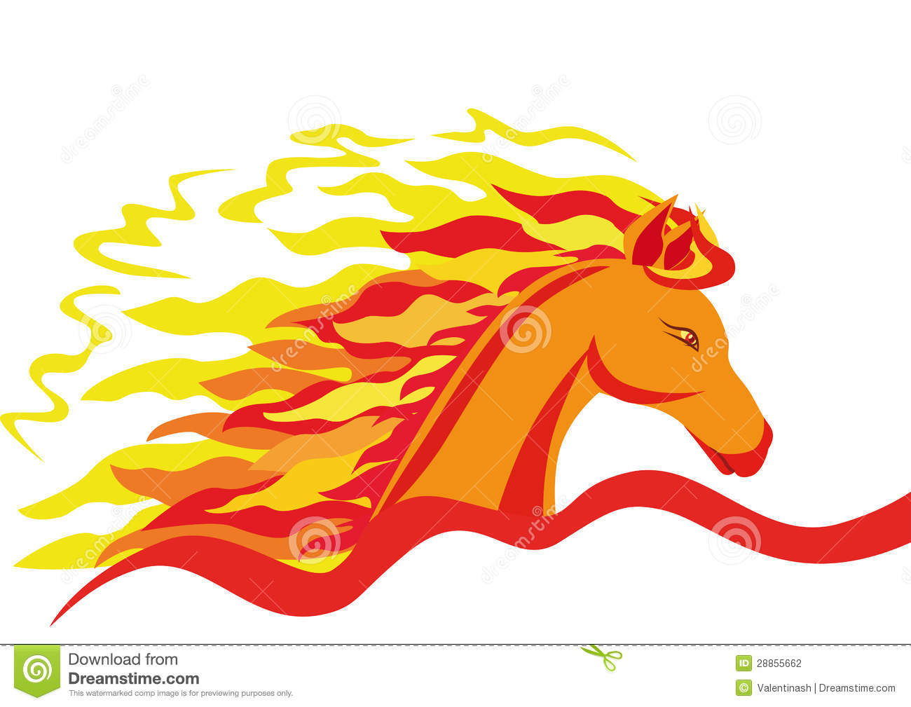 A Fiery Horse Stock Photography.