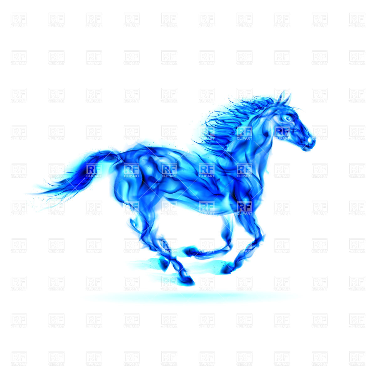 Fiery horse clipart.