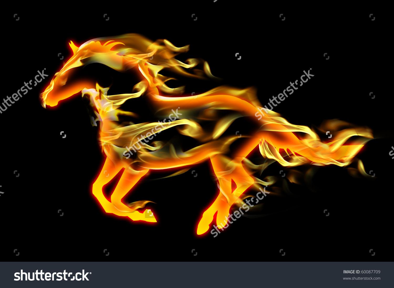Fiery Horse Stock Illustration 60087709.