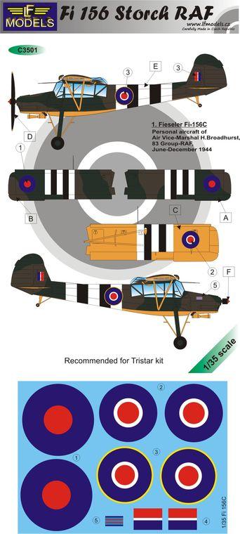 Fi 156 Storch RAF, LF Models C3501.