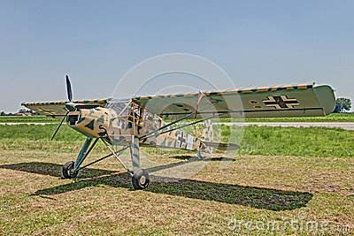 German Aircraft Fieseler Fi 156 Storch Editorial Photography.