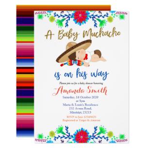 Muchacho MEXICAN Fiesta Baby Shower Invitation.