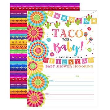 Fiesta Baby Shower Invitation, Taco Baby Shower, Taco Bout A Baby Shower  Invite, Fiesta.