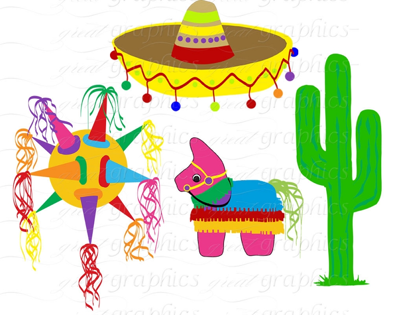 Fiesta And Backgrounds Clipart.