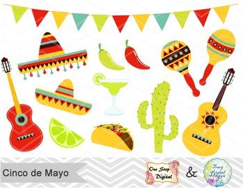 Digital Cinco de Mayo Clip Art Mexican Fiesta Clip Art Mexican Party, 0177.