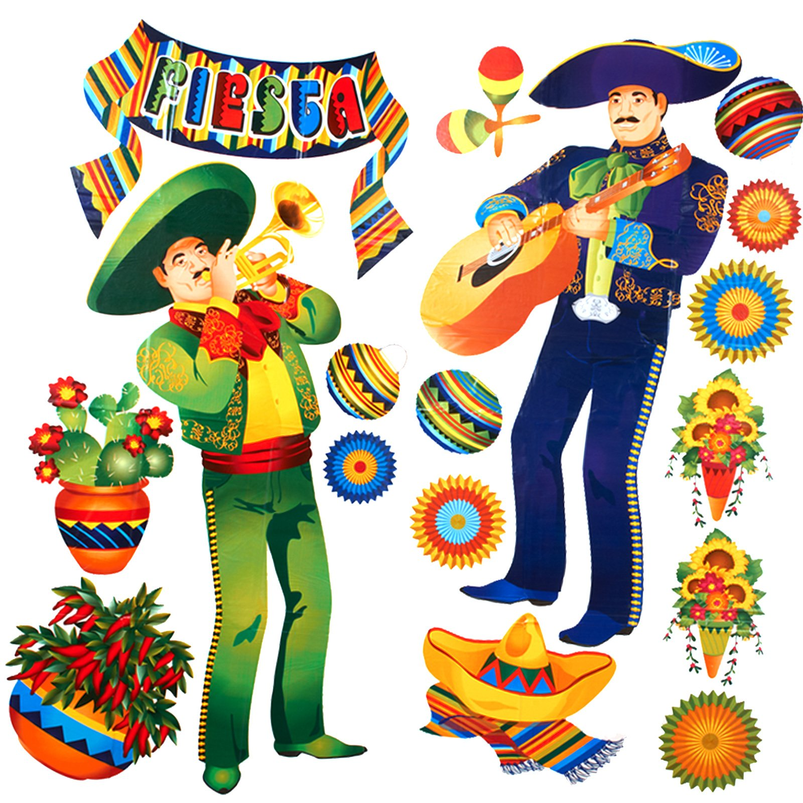 Mexican themed party clipart.