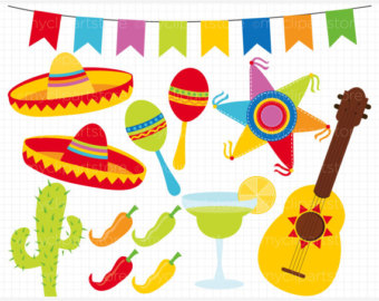 Fiesta party clipart.