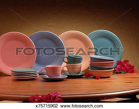 Stock Photo of Fiesta ware dish set x75715902.
