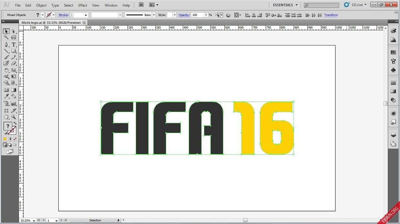 FIFA 16 Logo vector file.