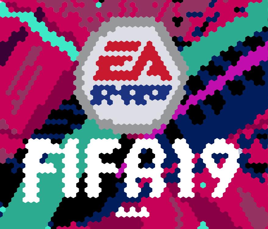 Here\'s fifa 19 logo i drew in hexels 3 : FIFA.
