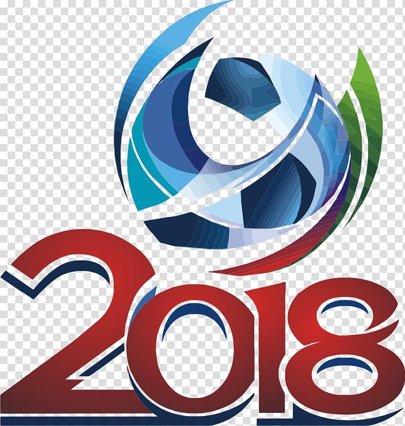Multicolored 2018 soccer illustration, 2018 FIFA World Cup.
