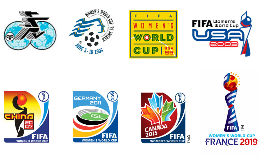 The Logos of the FIFA Women\'s World Cup.