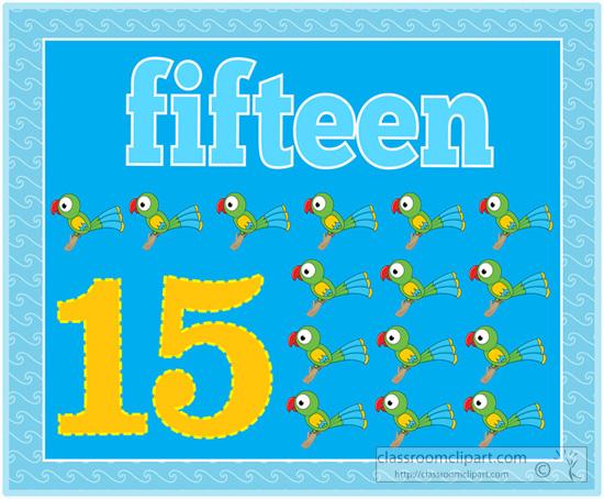 Fifteen Clipart.