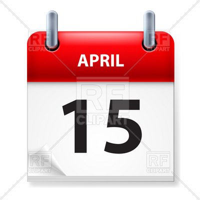 Fifteenth of April Calendar day Vector Image #9411.