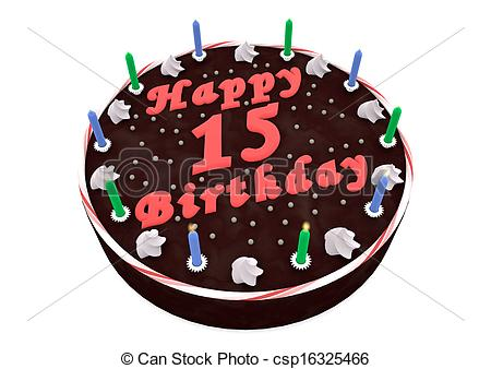 15th Birthday Clipart.