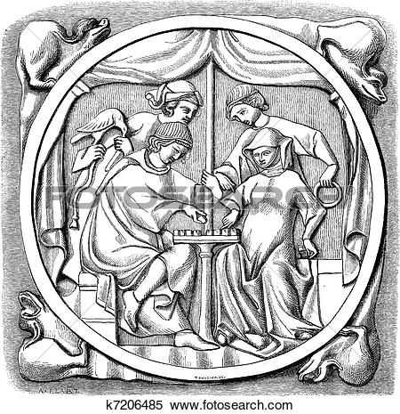 Clipart of The mirror of fifteenth century.