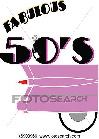 Fabulous 50's Clip Art.