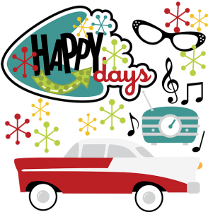 Happy Days SVG 50's svg 50's clipart 50's clip art $1.29.