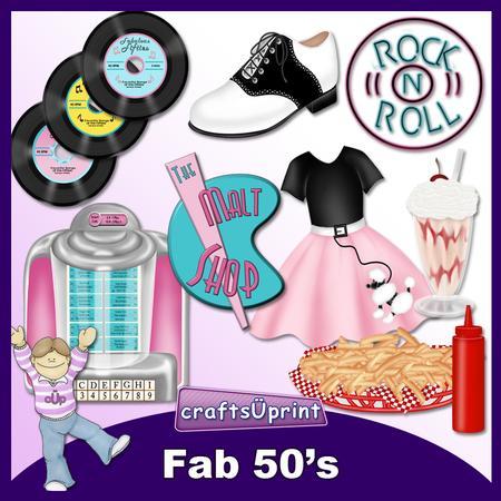 Fab 50's Clip Art.