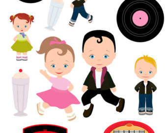 50s clipart.