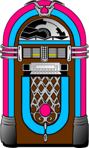 Pink And Blue Jukebox clip art.