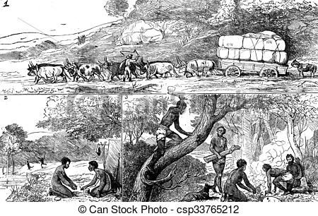 Clipart of Fig 1.the truck stuck, Fig 2 the camp, Fig 3 Honeycomb.