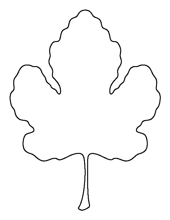 Leaf outline fig leaf pattern use the printable outline for crafts.