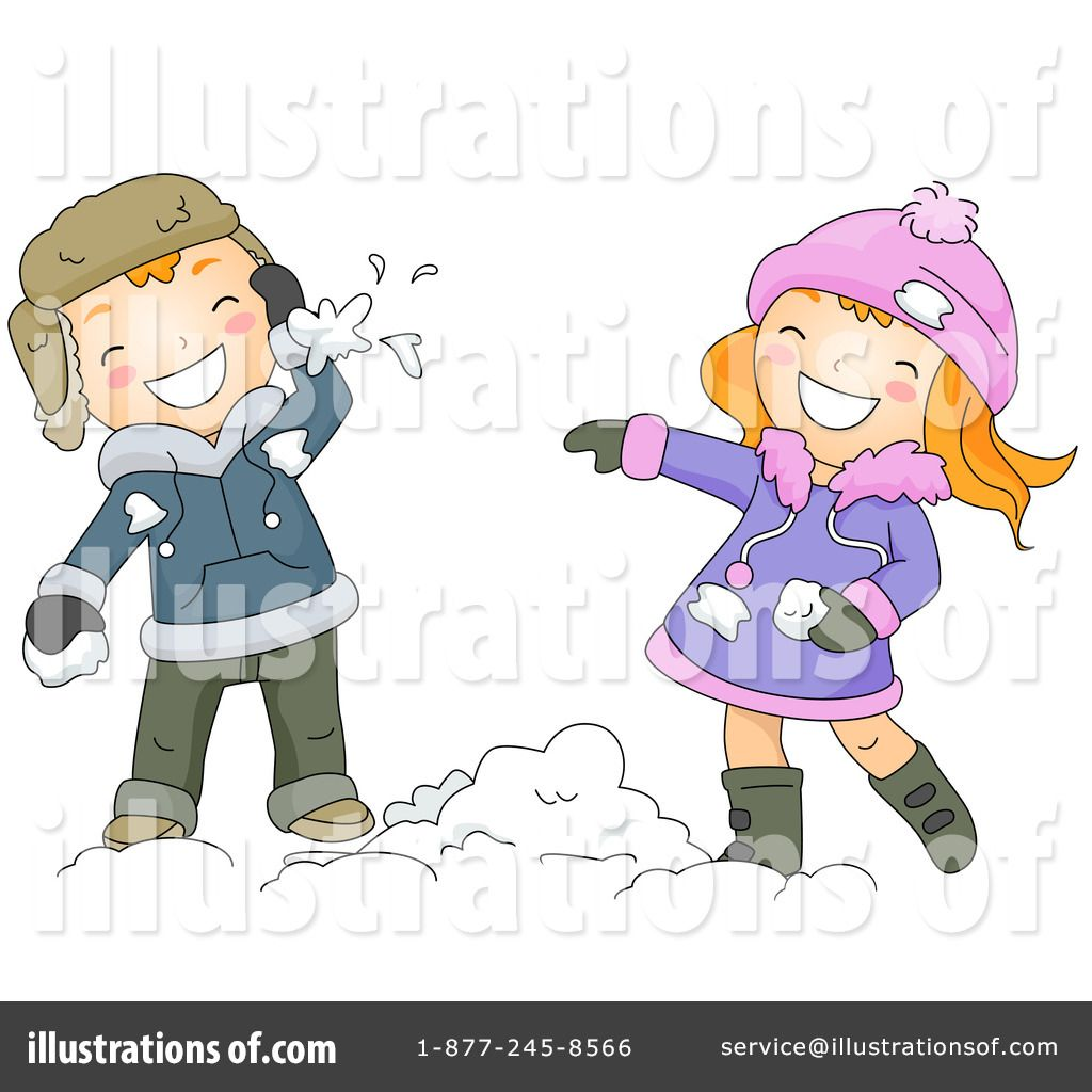 Snowball Fight Clipart 434677 By Bnp Design Studio Royalty Free Rf.