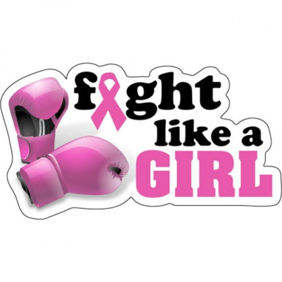 Fight Like A Girl Clipart Breast Cancer free image.