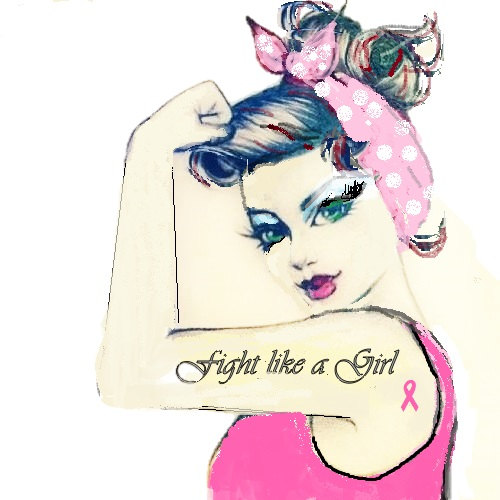 Rosie Fight like a Girl Pink Breast Cancer by ChangingCloth.