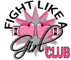 boxing gloves logo for breast cancer.